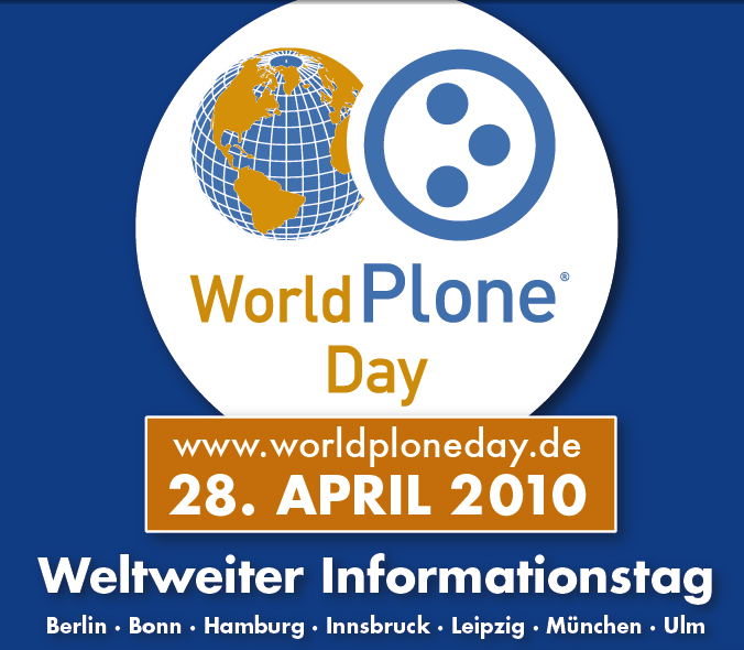 World Plone Day im Rheinland am 28. April 2010 in Bonn